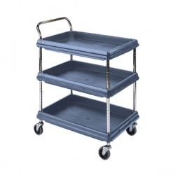 Deep Ledge Trolley 3 Tier Blue H1041x W984 x D689mm 322451