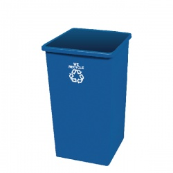Paper Recycling Bin Base 132.5L Blue 324161 (Lid not included)