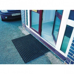 Rubber Ring Mat 1000X1500mm Black 324546