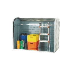VFM Metallic Silver Outdoor Storage Locker 2-Piece Roller 328664