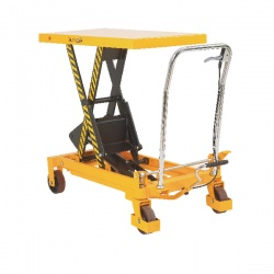 Mobile Lifting Table 150kg Capacity Yellow and Black 329455