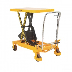Mobile Lifting Table 300kg Capacity Yellow and Black 329456