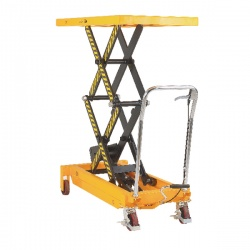 Mobile Lifting Table 800kg Capacity Yellow and Black 329464