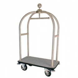 Crown Luggage Trolley Brass 373239