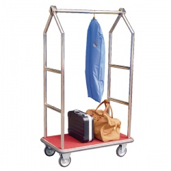 Luggage Trolley Chrome Finish 373240