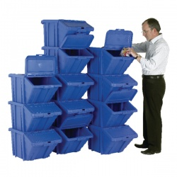 VFM Blue Heavy Duty Recycle Bin/Lid (Pack of 12) 369050