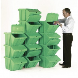 VFM Green Heavy Duty Recycle Bin/Lid (Pack of 12) 369052