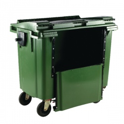 Green 770 Litre Wheeled Bin with Drop Down Front 377966