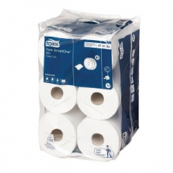 Tork White SmartOne Mini 2 Ply Toilet Roll 111.6 Metres (Pack of 12) 472193