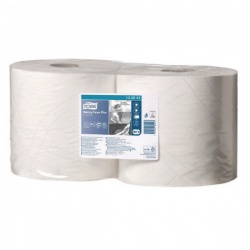 Tork White Wiping Paper Plus 750 Sheets 255m (Pack of 2) 130041