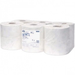 Tork Advanced Hygiene Mini Jumbo Toilet Roll 2 Ply (Pack of 12) 120238