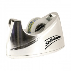 Sellotape Bench Dispenser Chrome Small 504045