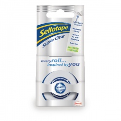 Sellotape Super Clear Tape 18mm x 25m (Pack of 8) 1443351