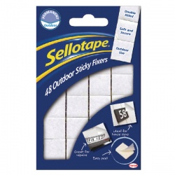 Sellotape Outdoor Sticky Fixers 20x20mm (Pack of 48) 1445421
