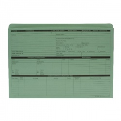 Custom Forms Green Personnel Wallet (Pack of 50) PWG01
