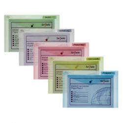 Snopake Polyfile Classic Wallet Foolscap Assorted (Pack of 5) 10087