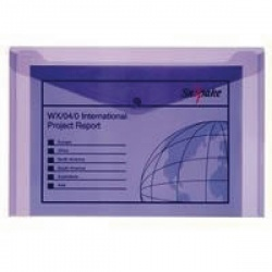 Snopake Polyfile™ Electra™ Foolscap Plus Purple (Pack of 5) 11162
