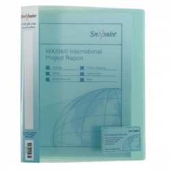 Snopake Polypropylene Ring Binder 2 Ring A4 25mm Blue (Pack of 10) 10180