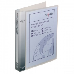 Snopake Executive Presentation 4D-Ring A4 Binder Clear 13386