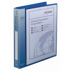 Snopake Executive Presentation 4D-Ring A4 Binder Electra™ Blue 13387