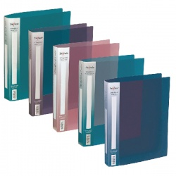 Snopake Polypropylene Ring Binder 2 Ring A4 25mm Electra Assorted (Pack of 10) 10165