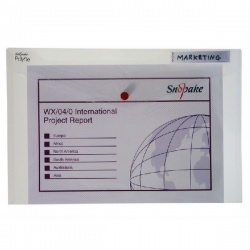 Snopake Polyfile Classic Wallet Foolscap Clear (Pack of 5) 11154X