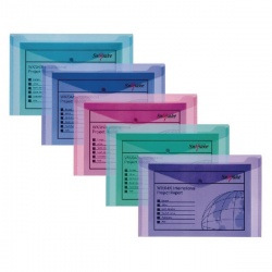 Snopake Polyfile™ Wallet A5 Assorted Electra™ Colours (Pack of 5) 11355