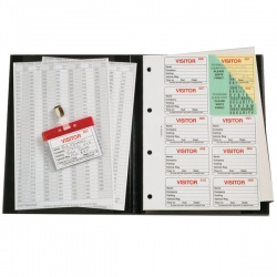 Identibadge Black Visitors Book Value Pack IBVBSYS300
