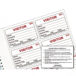 Identibadge System Visitors Book Refill IBRSYS300 Pack of 300