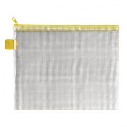 BDS Handy Zip Pouch 255 x 205mm Yellow (Pack of 5) ZIPPER YELLOW