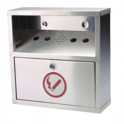 Sterling Steel Wall Mounted Ash Bin 5.5 Litre CIGBINSQ