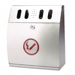 Sterling Steel Curved Wall Mounted Ash Bin 3.7 Litre CIGBINCRV