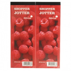 Silvine Shopper Red Jotter (Pack of 24)