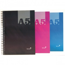 Silvine A5 Twin Wire Hardback Notebook Assorted 140 Pages Ruled THBA5AC Win a Mac Book