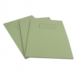 Silvine A4 Exercise Book 80 Pages Ruled Feint with Margin Green EX110