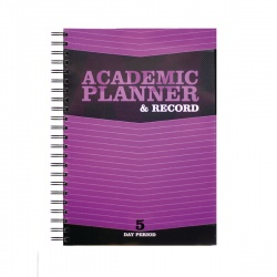 Silvine Teacher Academic Planner and Record 5 Period Purple A4 EX201