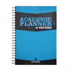 Silvine Teacher Academic Planner and Record 6 Period Blue A4 EX202