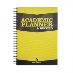 Silvine Teacher Academic Planner and Record 9 Period Yellow A4 EX203