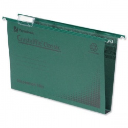 Rexel Crystalfile Classic Suspension File Complete 30mm A4 Green (Pack of 50) 70621