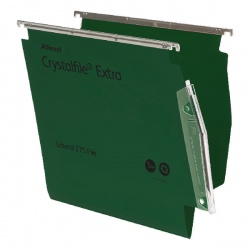 Rexel CrystalFile Extra Lateral File 275mm A4 Green (Pack of 25) 70637