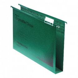 Rexel CrystalFile Extra 275mm Lateral Files 30mm Capacity Green (Pack of 25) 70640