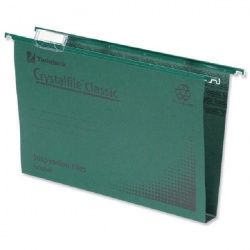 Rexel Crystalfile Classic Suspension File Complete 50mm Foolscap Green (Pack of 50) 71750