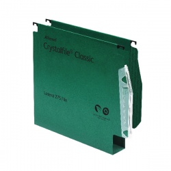 Rexel CrystalFile Classic Lateral File 30mm Green (Pack of 50) 78654