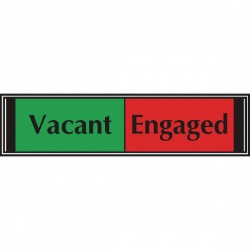 Sliding Sign Vacant/Engaged Self Adhesive V6DB/VE