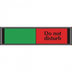 Sliding Sign Do Not Disturb 225 x 52mm V6DB/DD