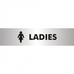 Acrylic Sign Ladies Aluminium 190 x 45mm SR22357