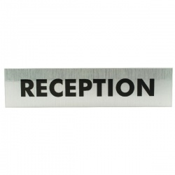 Acrylic Sign Reception Aluminium 190 x 45mm SR22364