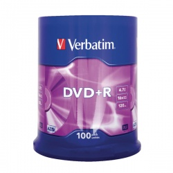 Verbatim 4.7GB 16x Speed Jewel Case DVD-R (Pack of 100) 43519