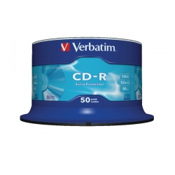 Verbatim CD-R 700MB/80minutes 52X Spindle (Pack of 50) 43351