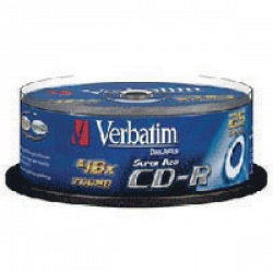 Verbatim CD-R 700MB/80minutes (Pack of 25) 43352